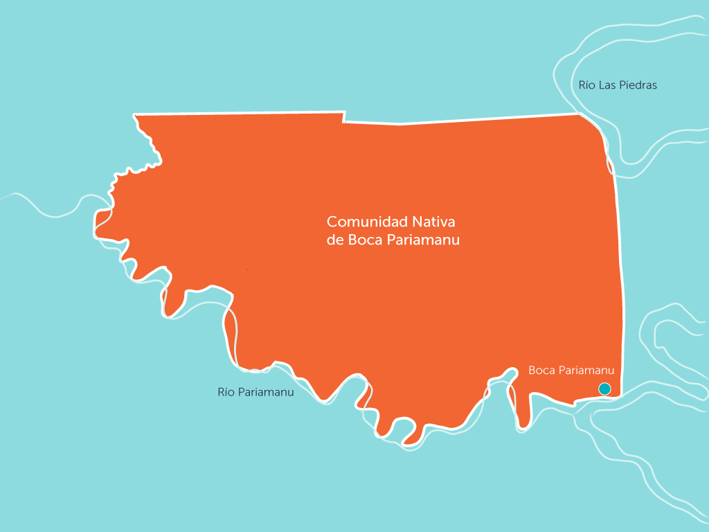 Boca Pariamanu determines the boundaries of its territory and resolves conflicts over mines and Brazil nuts