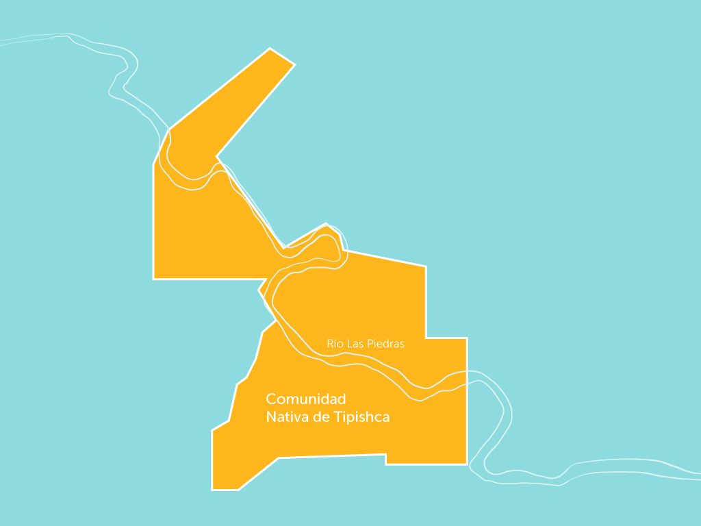 Tipishca demarcates 40% of it communal boundaries